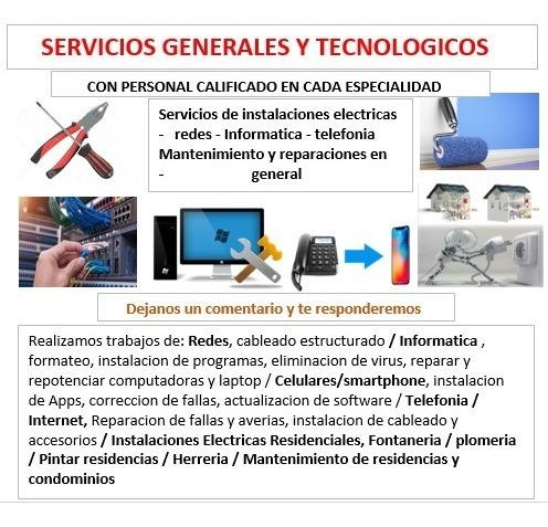 servicios generales y tecnológicos