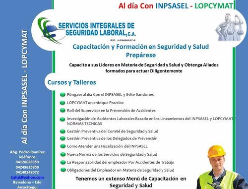 servicios legales lopcymat - inpsasel