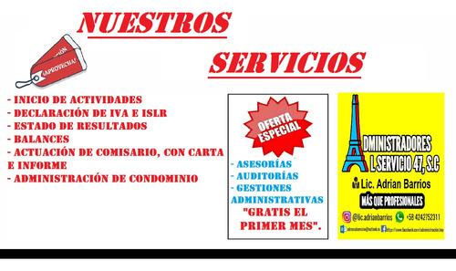 servicios profesionales de administración y contabilidad
