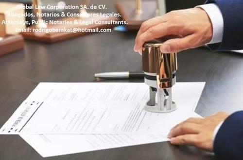 servicios profesionales de notario.