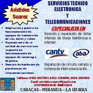 servicios tecnico electronica  y telecomunicaciones