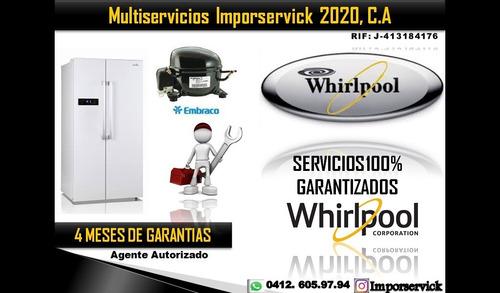 servicios técnico línea blanca whirlpoo lavadora sec nevera