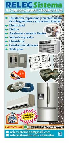 servicios tecnicos de electricidad general y refrigeración
