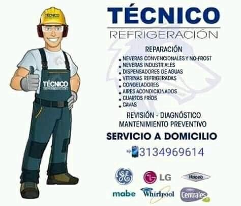 servicios técnicos de neveras de todas las marcas
