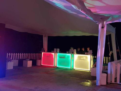 serviciosde barras led móviles  y cócteles para eventos