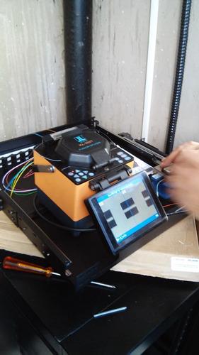 serviço de fusão de fibra óptica e certificação