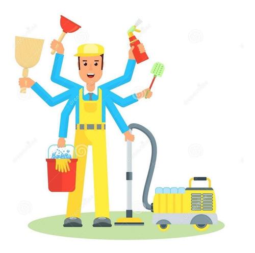 serviço de limpeza por homem