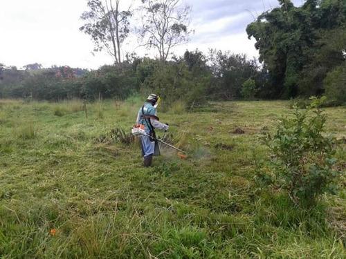 serviço de roçadeira limpeza de lotes,granja,jardins