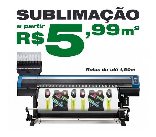 serviço impressão sublimatica sublimação grande formato