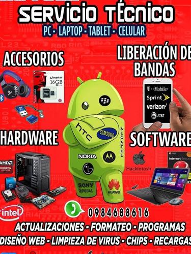 servico técnico de computadoras, laptops y celulares