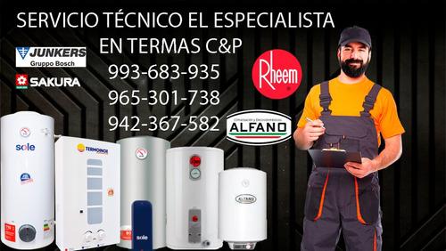 servico tecnico de termas y termotanques