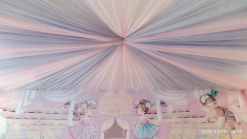 serviços de decoração com tecidos (oxford, vual, malha...)