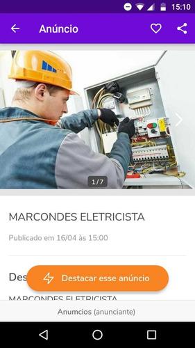 serviços de elétricista em geral.
