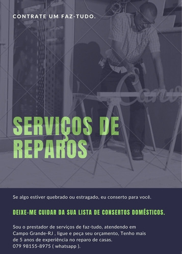 serviços de reparos.