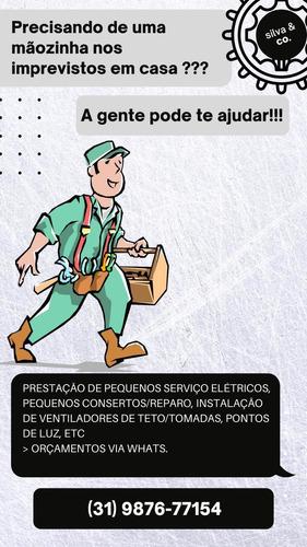 serviços elétrico, frete e hidráulico.