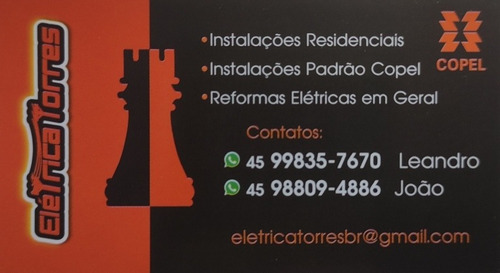 serviços elétricos, metalúrgico e de pinturas.