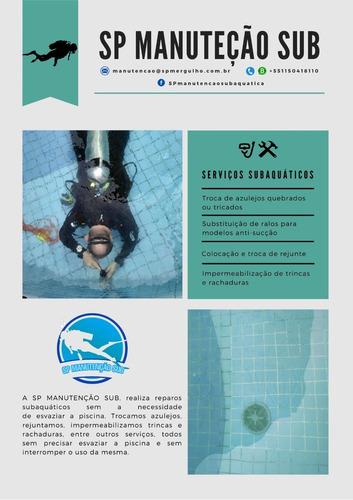 serviços subaquáticos para manutenção de piscinas