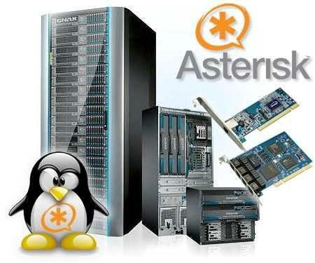 servidor asterisk con 8 extensiones y 4 entrantes + digital