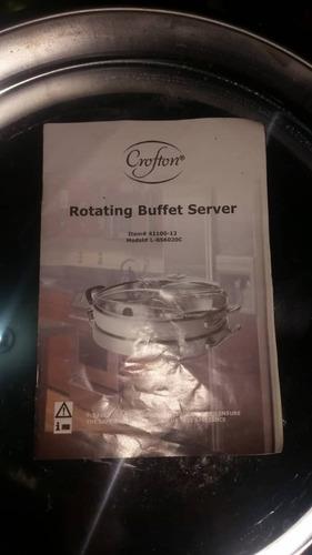 servidor de buffet giratorio