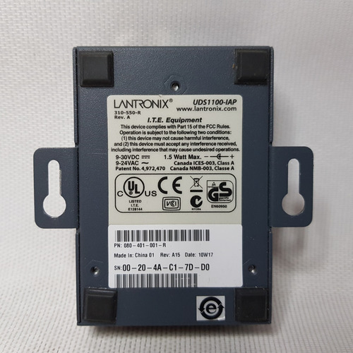 servidor de dispositivo externo lantronix uds1100-iap