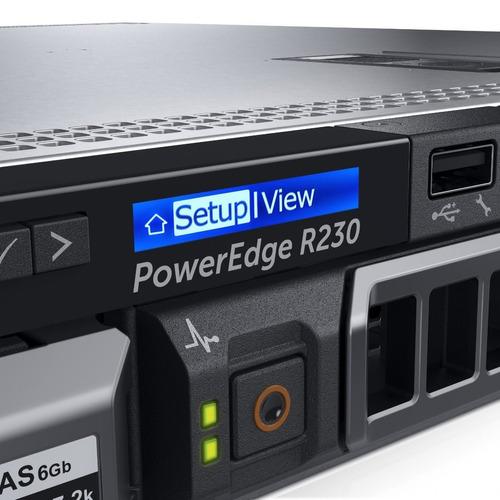 servidor dell intel xeon e3-1220v6/8gb/2tb hdd/ bezel