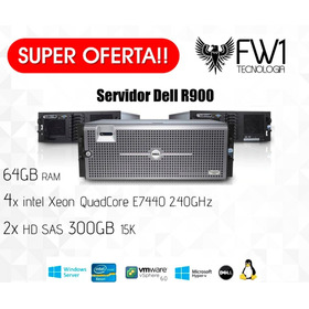 Servidor Dell Poweredge R900 4x Quad Core 64gb Ram 600gb Hd