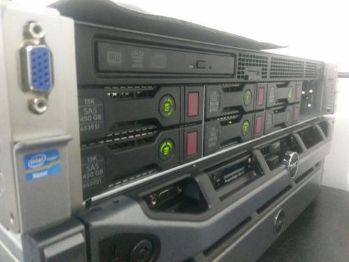 servidor hp dl360e g8 (2x sixcore, 32gb, 2x 450gb, 4x lan)