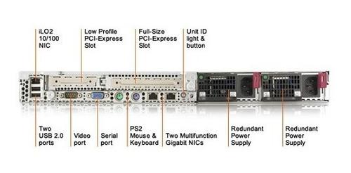 servidor hp proliant dl360 g5 2 xeon 600 gb 16gb