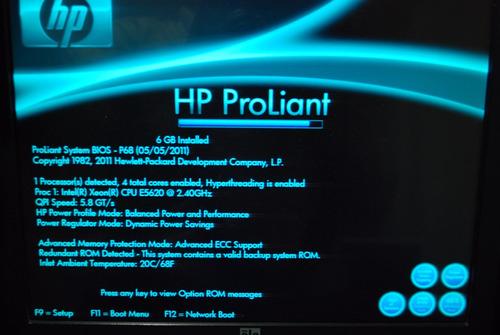 servidor hp proliant dl360 g7 16 gb  ram xeon iva incluido