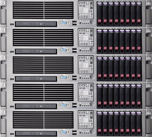 servidor hp proliant dl380 g5 e5335 2.00ghz 2 quad core 32gb