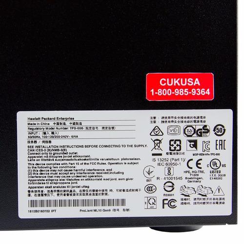 servidor hp proliant ml10 g9 i3-6100 3.7gb, 1tb dd, 8gb ram