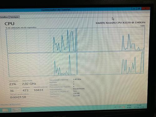servidor hp proliant ml110 g5 xeon x3220 2.4ghz 8gb ram