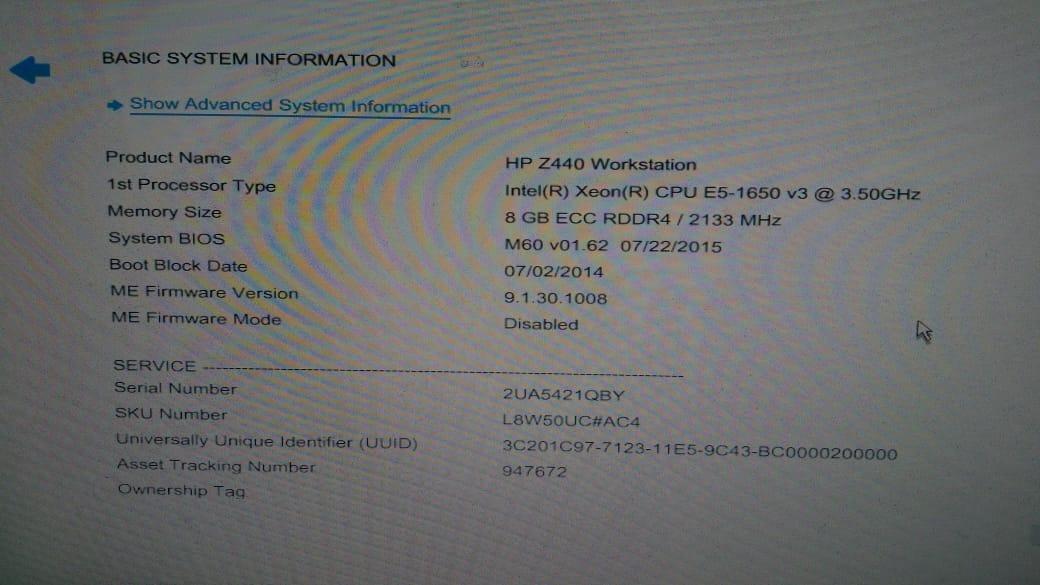 Servidor Hp Z440 Workstation Xeon 3 50 8gb 1tb + Quadro K620