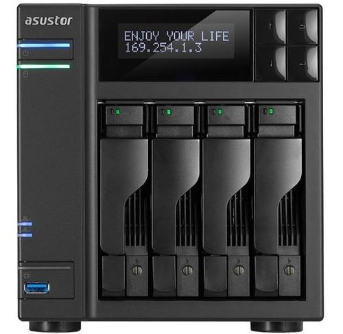 servidor nas as6204t intel quad core 4gb -até 56tb - sem hd