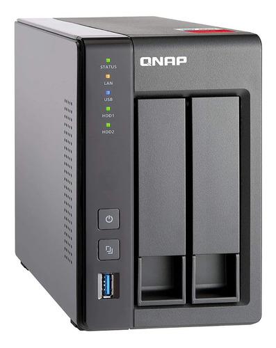 servidor nas qnap ts-251+ 2 bahias intel celeron 2gb ram