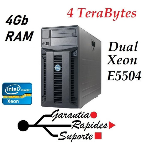 servidor poweredge t410 4tb de armazename 4gb ram