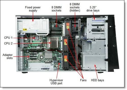 servidor torre ibm xseries x3400m3 xeon e5620 4c #lt.129