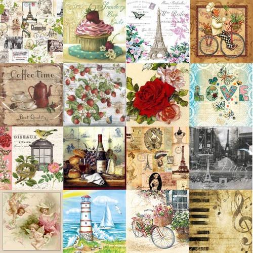 servilleta decorativa europea decoupage 100 piezas con envío