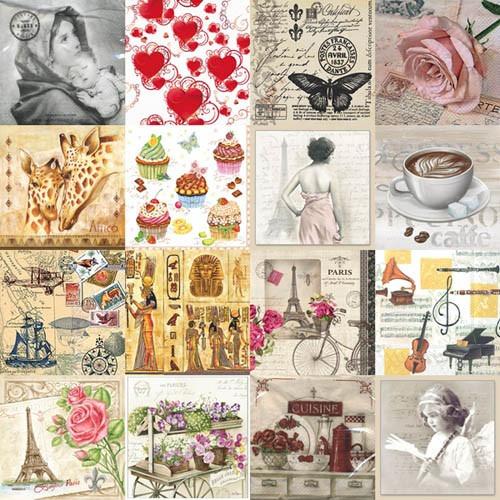 servilleta decorativa europea decoupage 40 piezas con envío