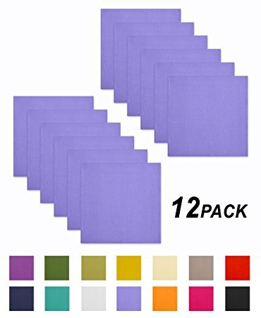 servilletas de algodon 12 unidades lavanda  cotton craft