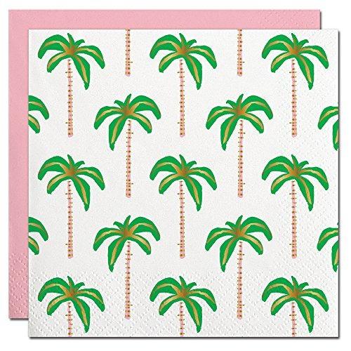 servilletas de la hoja de la palmera diseño cóctel desechab