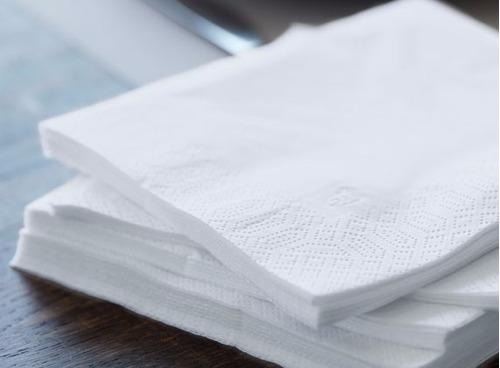 servilletas papel 33x33 blanca tissue doble pliego cajax1000