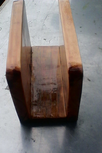 servilletero de madera artesanal