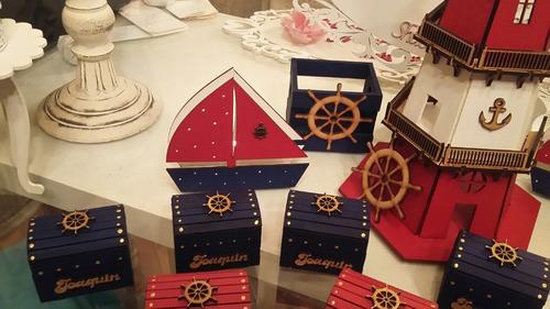 servilletero  evento personalizado madera náutico barco bote
