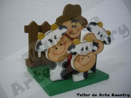 Servilletero Granjero Vacas Arte Country -  28.800 en Mercado Libre