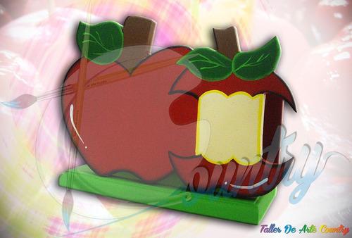servilletero manzanas arte country