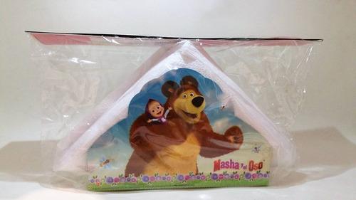 servilletero masha y el oso 15 servilletas