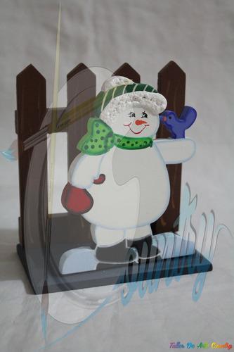 servilletero nieve pajarito arte country