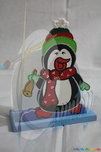 servilletero pinguino arte country