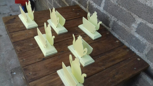 servilleteros de madera